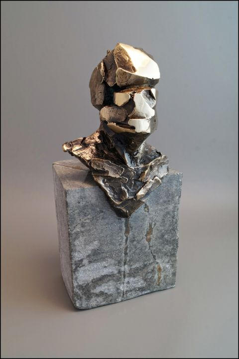 HERCYN 2 - Sculpture,  13x5.9x5.9 in, ©2019 by Konrad Ziolkowski -                                                                                                                                                                                                                                                                  Expressionism, expressionism-591, People, Science-fiction, Abstract Art