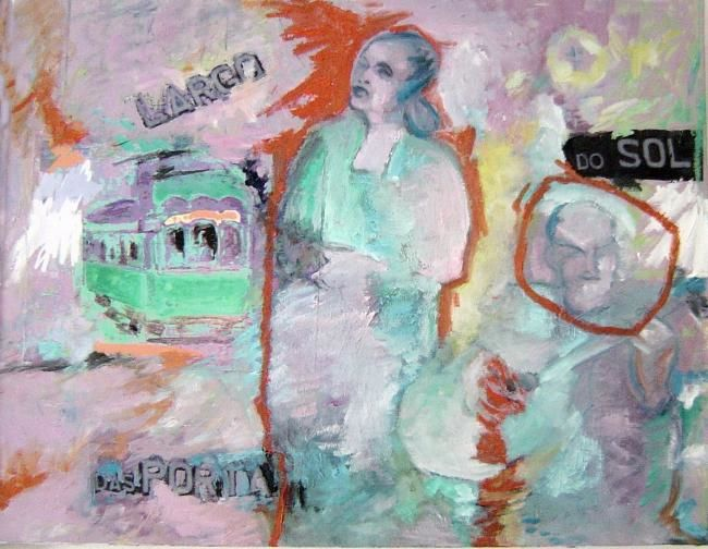 Fado Lisbonne - Painting,  25.6x19.7 in ©2007 by LABOR -                        Contemporary painting