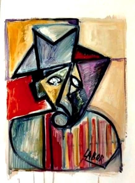 Desesperance - Painting,  25.6x19.7 in ©1980 by LABOR -                            Abstract Expressionism, Array