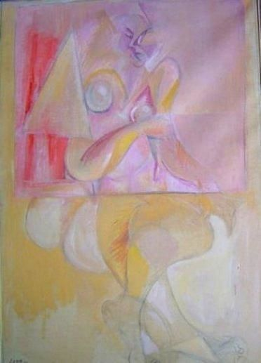 Femme1 - Painting,  39.4x35 in ©1987 by LABOR -                            Abstract Expressionism, Array