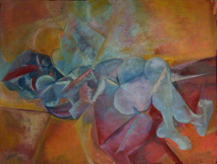 crepuscule.jpg - Painting,  39x48x2 in ©1973 by LABOR -