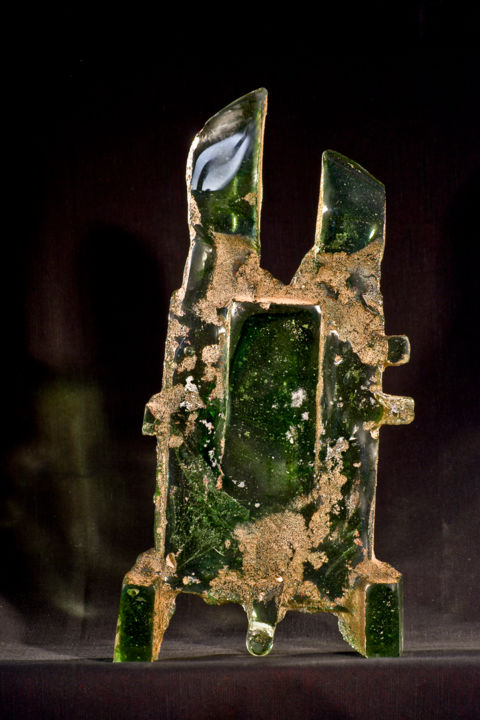 """Sculpture titled """"Castle in the Fores…"""" by Lachezar Dochev, Original Art, Glass"""