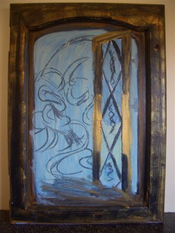 """Painting titled """"Open Window"""" by Lady Carolyne, Original Art, Oil"""