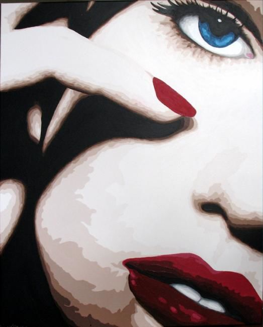 Seance make up forever - Peinture,  100x81 cm ©2011 par Lady Caviar -