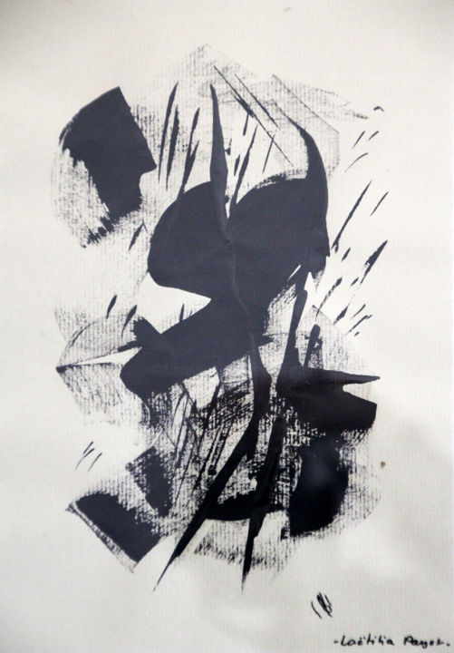 Painting, ink, abstract, artwork by Lëty Création