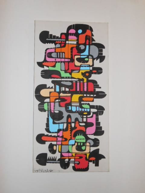 Painting,  40 x 80 cm ©2012 by Laetitia Lefe -  Painting
