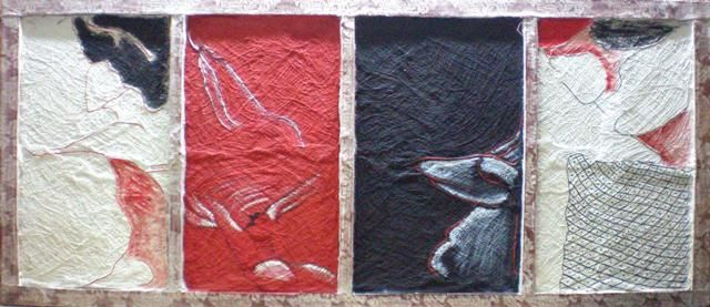 EL PERRO ANDALUZ - Painting ©2007 by La Femme Sisi=Silvina Pamparato -
