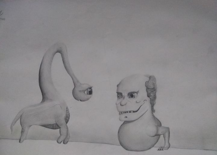 """Drawing titled """"Playground"""" by Lahutaro, Original Art, Pencil"""