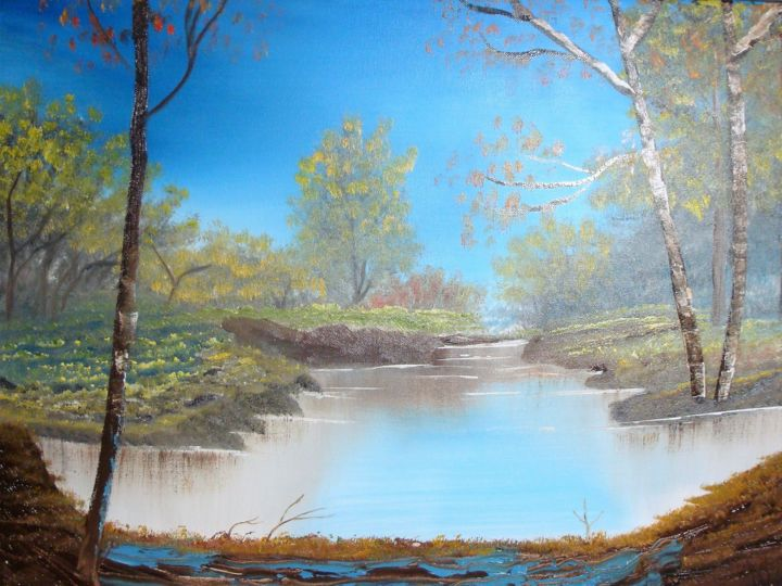 """Painting titled """"looking-through-the…"""" by Lana Fultz Fultz, Original Art, Oil"""