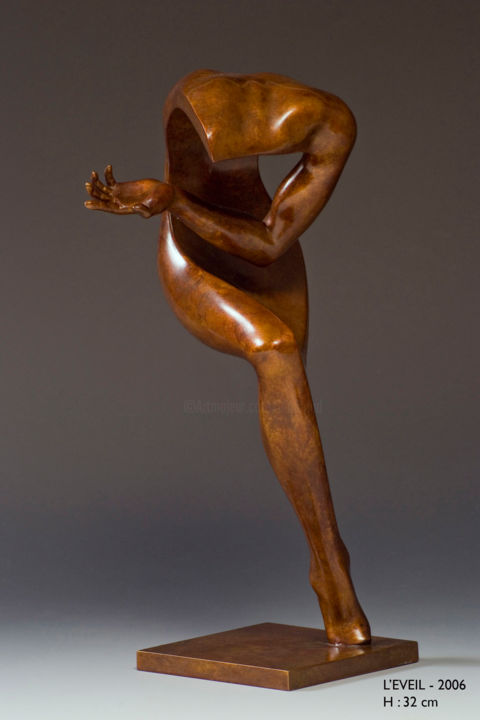 L'éveil - Sculpture, ©2008 by Jean-Louis Landraud -