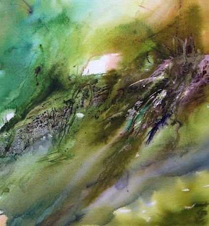Aquatupenses82 - Painting,  50x50 cm ©2012 by Lara CLERC -