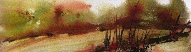 Aquatupenses84 - Painting,  20x40 cm ©2012 by Lara CLERC -