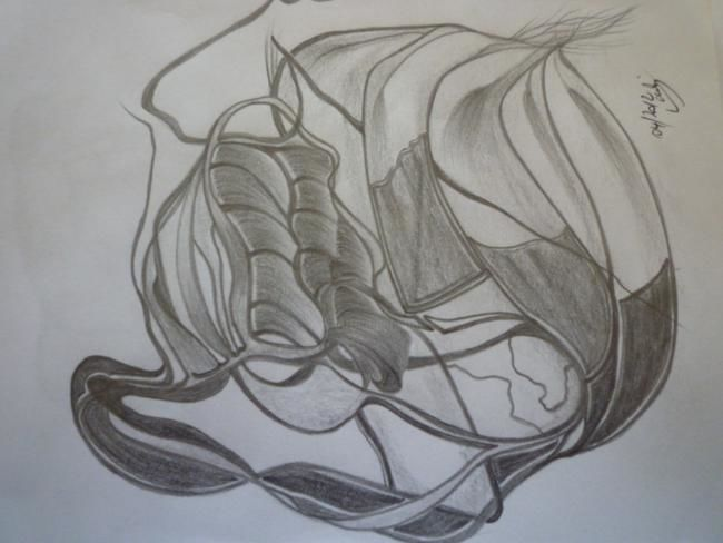 Drawing ©2012 by larcha -  Drawing, artwork_cat.Black and White