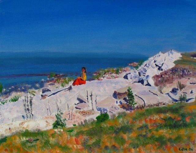 Georgian Bay Afternoon - Painting,  11x14 in, ©2004 by Herscovitch Larry -