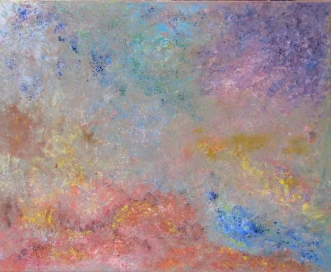 Aspiration 02 - Painting,  31.5x39.4 in, ©2011 by Marc Lasserre -                                                                                                                                                                          Abstract, abstract-570, abstraction tableau huile mixte