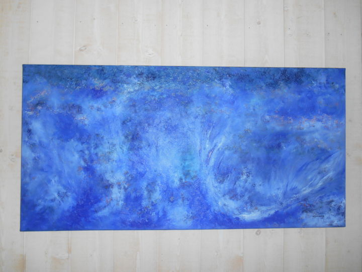 Ouranos - Peinture,  19,7x39,4 in, ©2014 par Marc LASSERRE -                                                                                                                          Abstract, abstract-570