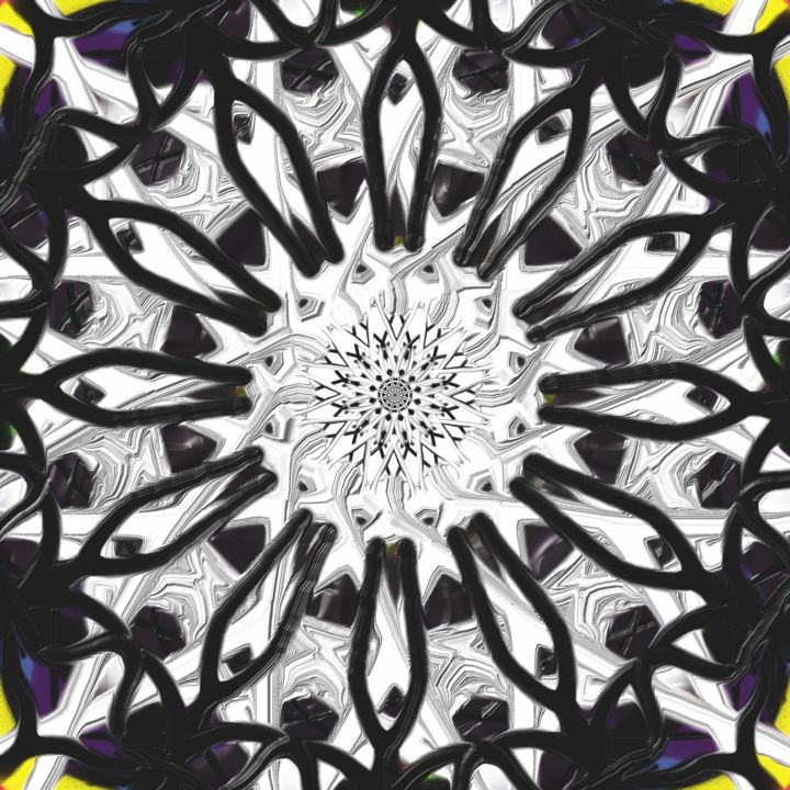 """Painting titled """"abstract-black-whit…"""" by Digitalpainter, Original Art, Other"""