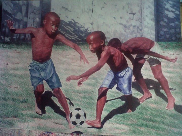 """Drawing titled """"Star in the Making"""" by Lateef Olajumoke, Original Art,"""