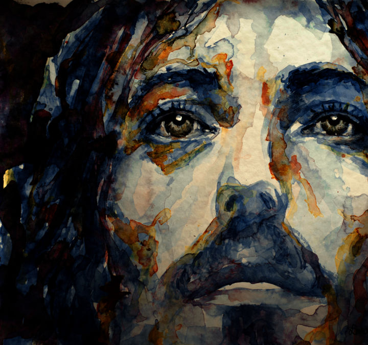J sus christ watercolor portraits of celebrity for Art conceptuel peinture
