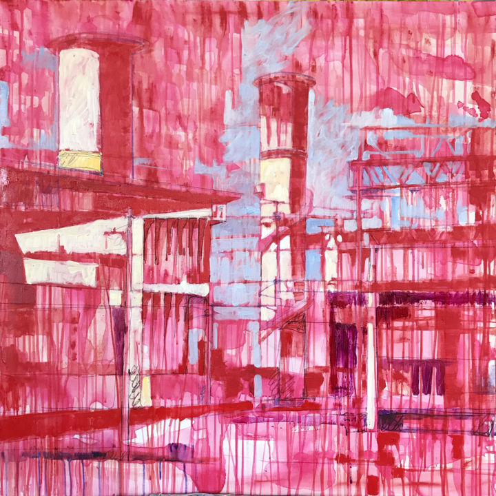 """Painting titled """"City 03"""" by Laura Federici, Original Art, Oil"""