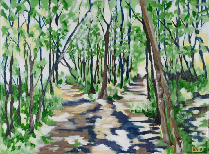 """Painting titled """"Two Paths"""" by Laura K Smith Paintings, Original Art, Acrylic Mounted on Stretcher frame"""