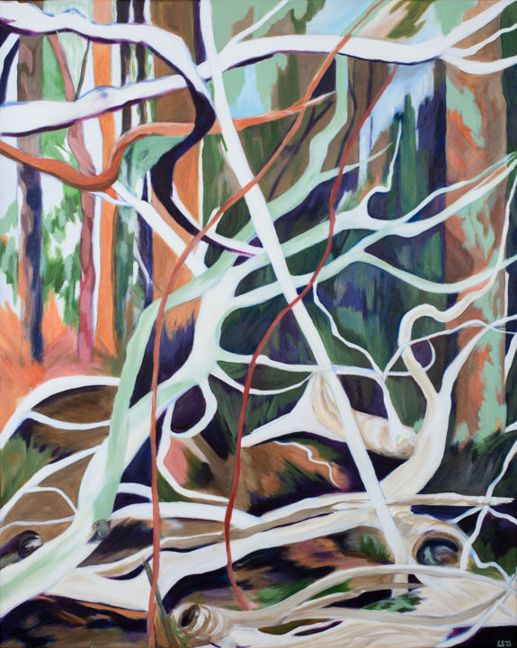 """Painting titled """"Vertical Sculptural…"""" by Laura K Smith Paintings, Original Art, Acrylic"""