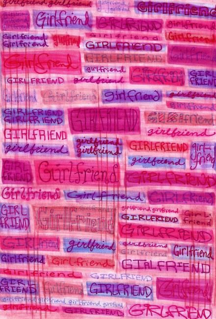 """Collages titled """"""""Girlfriend"""""""" by Laura Lee Gulledge, Original Art,"""
