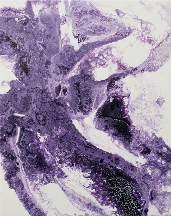 """Painting titled """"Violette"""" by Laura Alice, Original Art, Acrylic"""