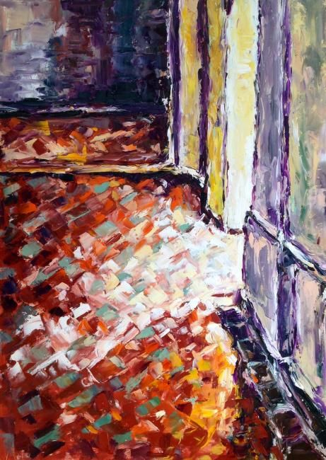 Interno fiorentino - Painting,  27.6x19.7 in, ©2012 by Laura Tedeschi Pittrice -                                                                                                                                                                          Abstract, abstract-570, dipinto di interno