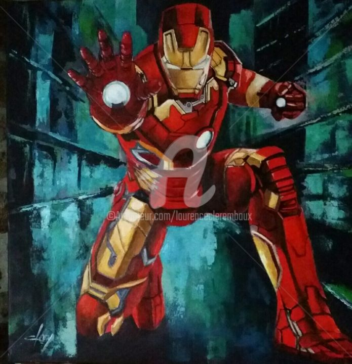 Iron Man 4 Painting By Laurence Clerembaux Artmajeur