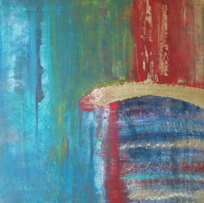 """Painting titled """"Elemental 5"""" by Lauren Frontino, Original Art,"""