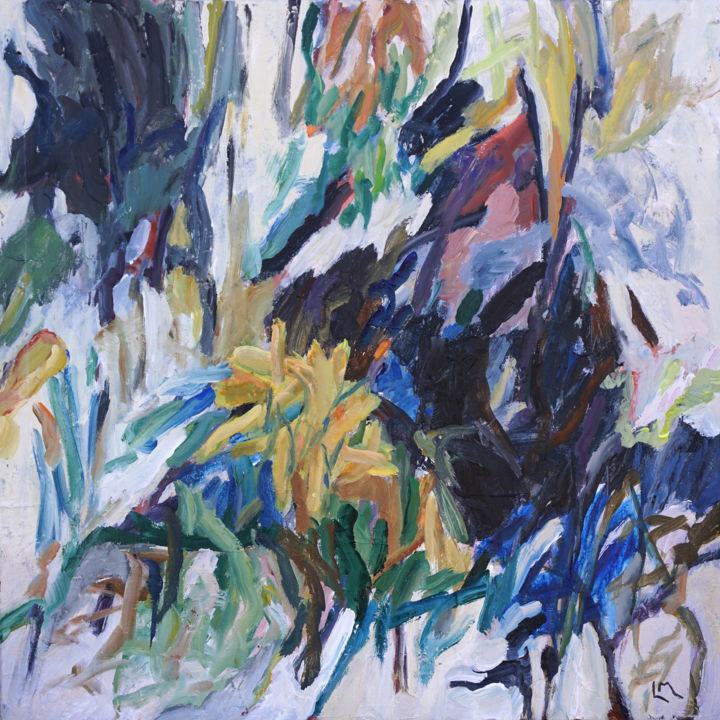 """Painting titled """"Flora of the Foothi…"""" by Laurie Macmillan, Original Art, Acrylic"""