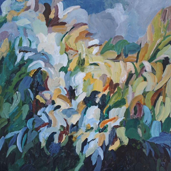 """Painting titled """"Vertical Garden"""" by Laurie Macmillan, Original Art, Acrylic Mounted on Stretcher frame"""
