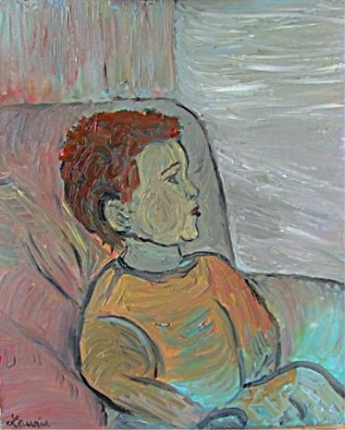 L'enfranchi - Painting,  46x38 cm ©2008 by Laurie -