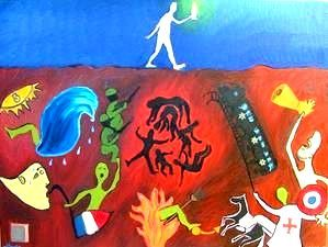 Apocalypse - Painting,  80x60 cm ©2008 by Laurie -