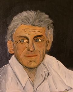 Ce regard - Painting,  46x38 cm ©2008 by Laurie -