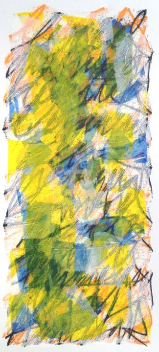 le-reel-01.jpg - Painting,  15.8x7.9 in, ©2017 by Thierry Laverge -