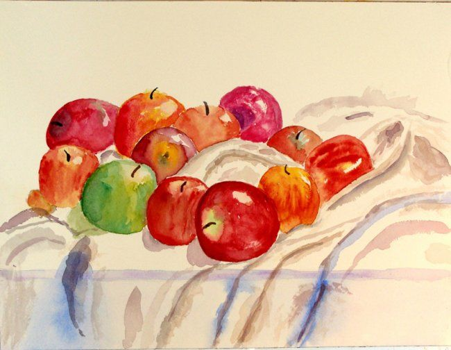 """Painting titled """"Apples"""" by Lawrence Billingsley, Original Art, Oil"""