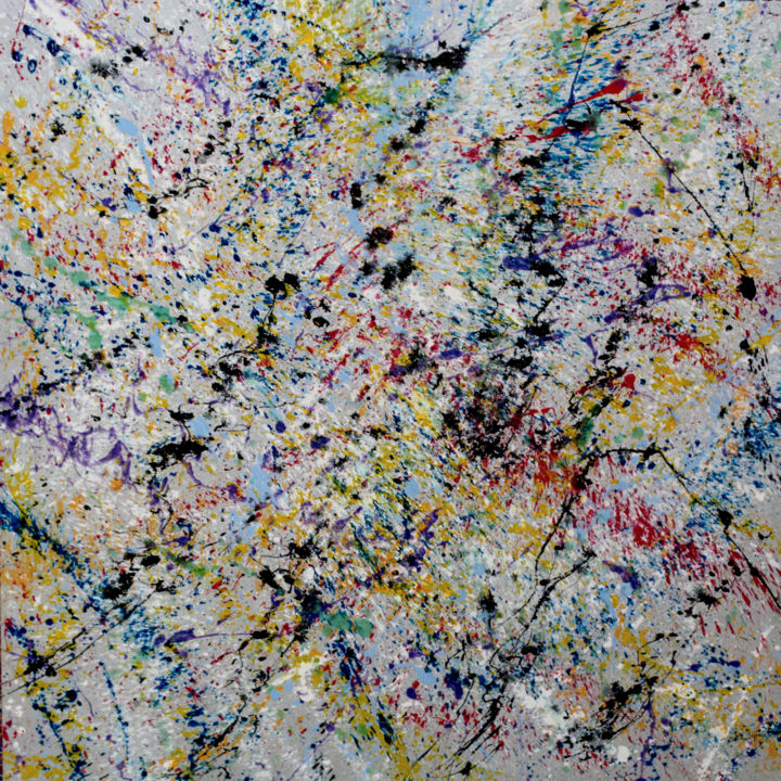 impulsion - Peinture,  49,2x49,2x1,6 in, ©2015 par philippe layani -                                                                                                                                                                          Abstract, abstract-570, Autre