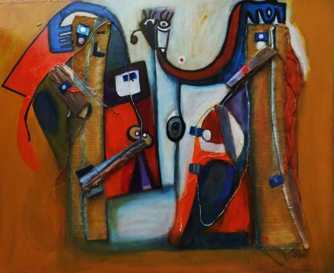 alt mater - Painting,  29.1x36.2 in, ©2012 by LAYDEV -