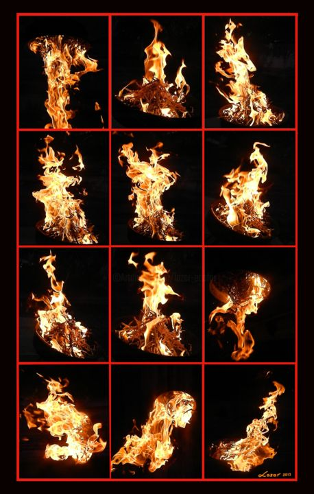 Collage-fire - Photographie, ©2019 par Sorin Niculae Lazar -                                                                                                                                                                          Abstract, abstract-570, Nature
