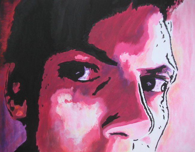eyes of my son - Painting, ©2008 by Koki -