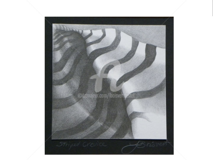 Striped Crevice - ©  drawing, pencil Online Artworks