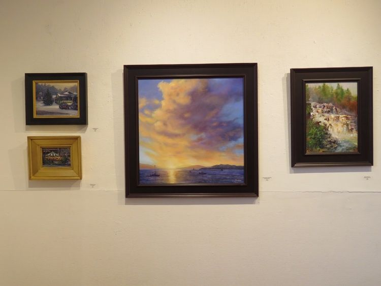 purple-clouds-barb-s-cwa-show.jpg Co-Chairing our CT Women Artist Juried Members Exhibition at the New Britain Art Leagues' lovely gallery.