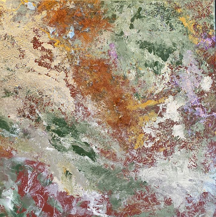 """Painting titled """"Contatto"""" by Laura Casini, Original Art, Acrylic"""