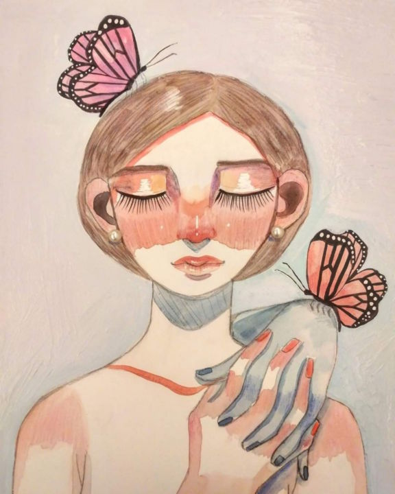 """Painting titled """"Tomorrow will be a…"""" by Cacaboom, Original Art, Watercolor"""