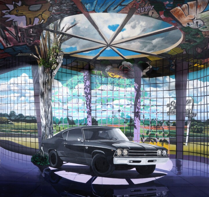 """Painting titled """"Lost Chevelle 69"""" by Leandro Cunha, Original Art, Acrylic"""