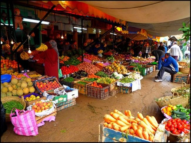 Marché Moulay-Idriss - Photography, ©2008 by Léa SG -