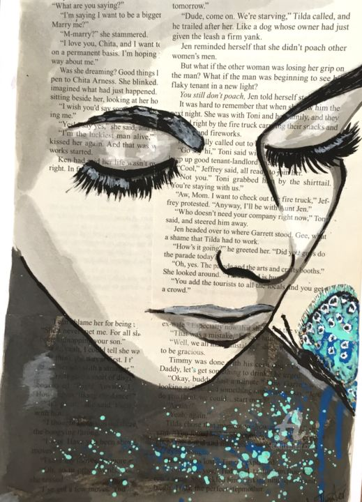 """Painting titled """"Daydream!"""" by Lisa Thaxter, Original Art, Acrylic"""