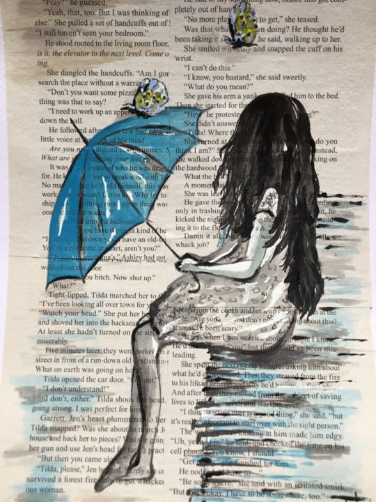 """Painting titled """"Lost!"""" by Lisa Thaxter, Original Art, Ink"""